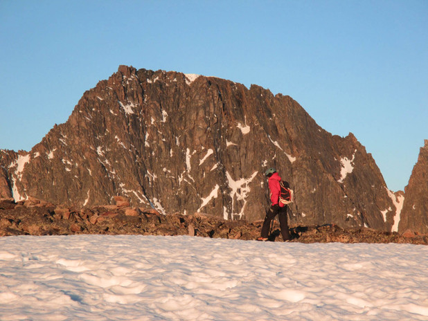 Approaching the summit of Granite Peak, Montana's High Point