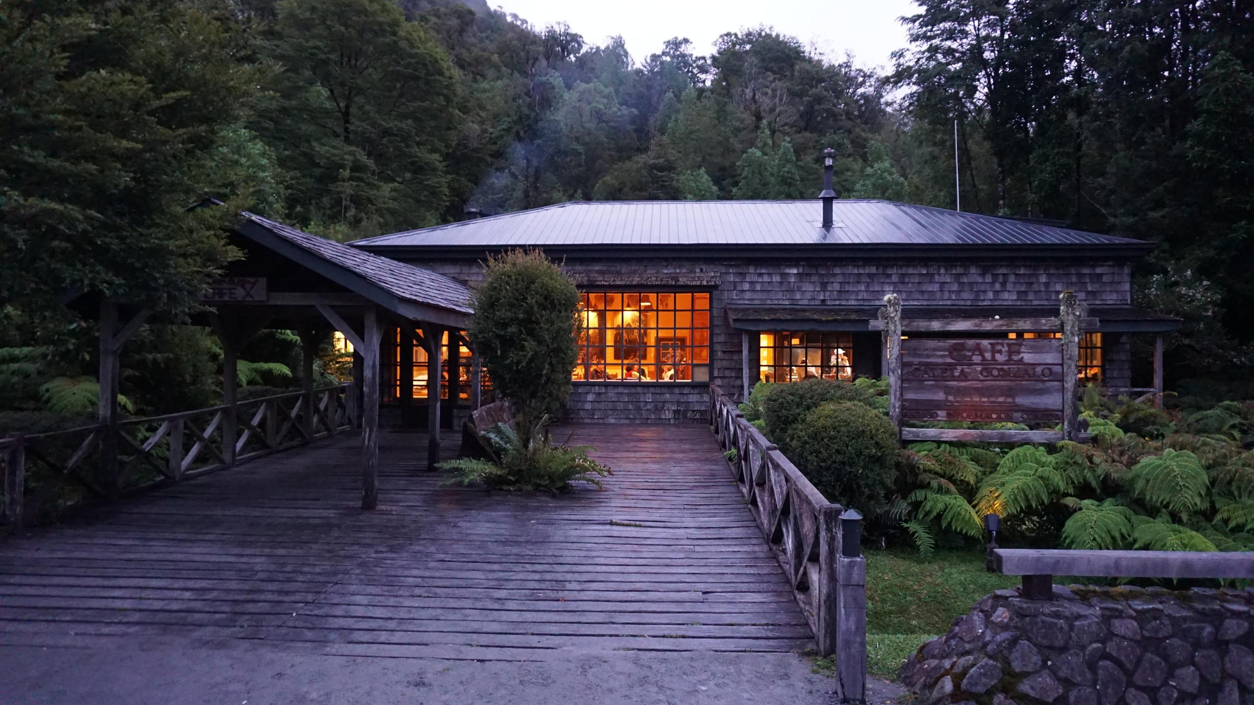 A lodge in Pumalin