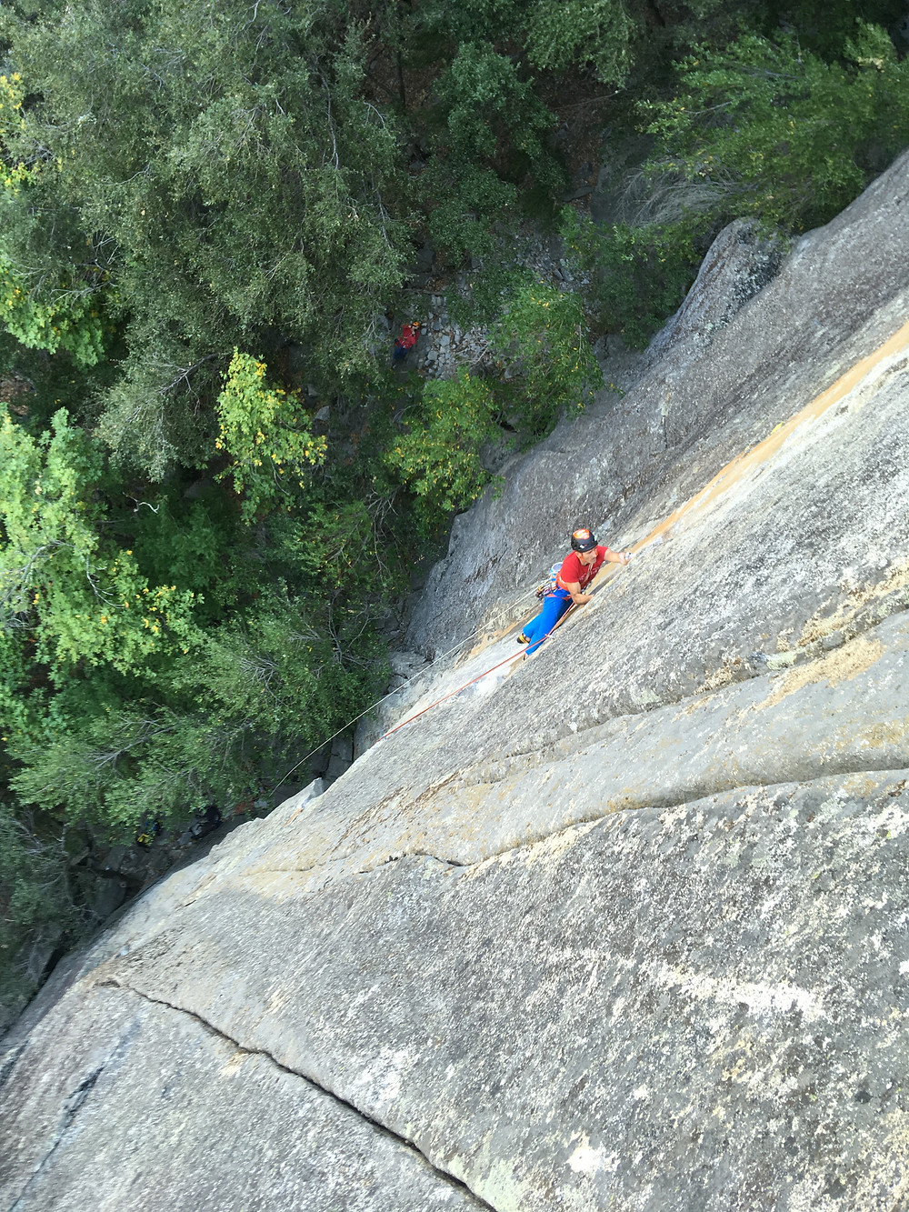 A friendly Italian hiking the first two pitches of Hotline