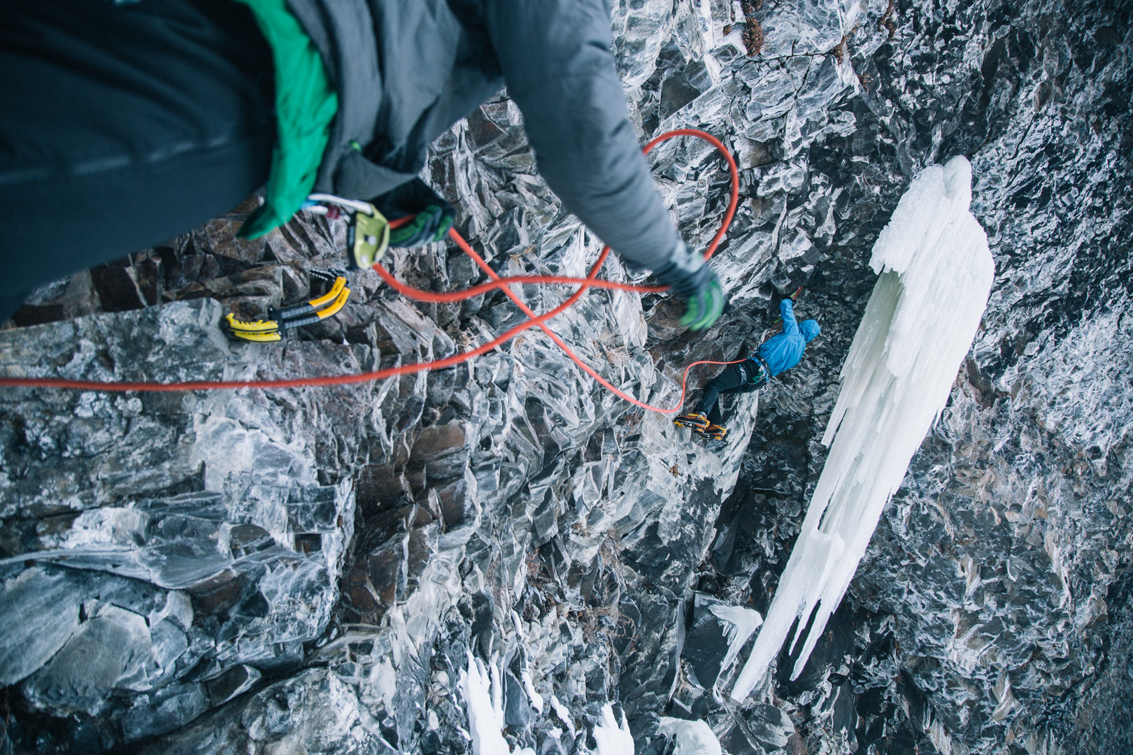 Roman Candle, one of Hyalite's many quality mixed routes