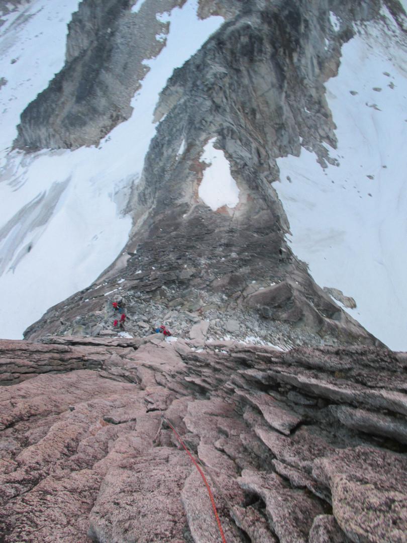 Beginning the NE Ridge of Bugaboo Spire