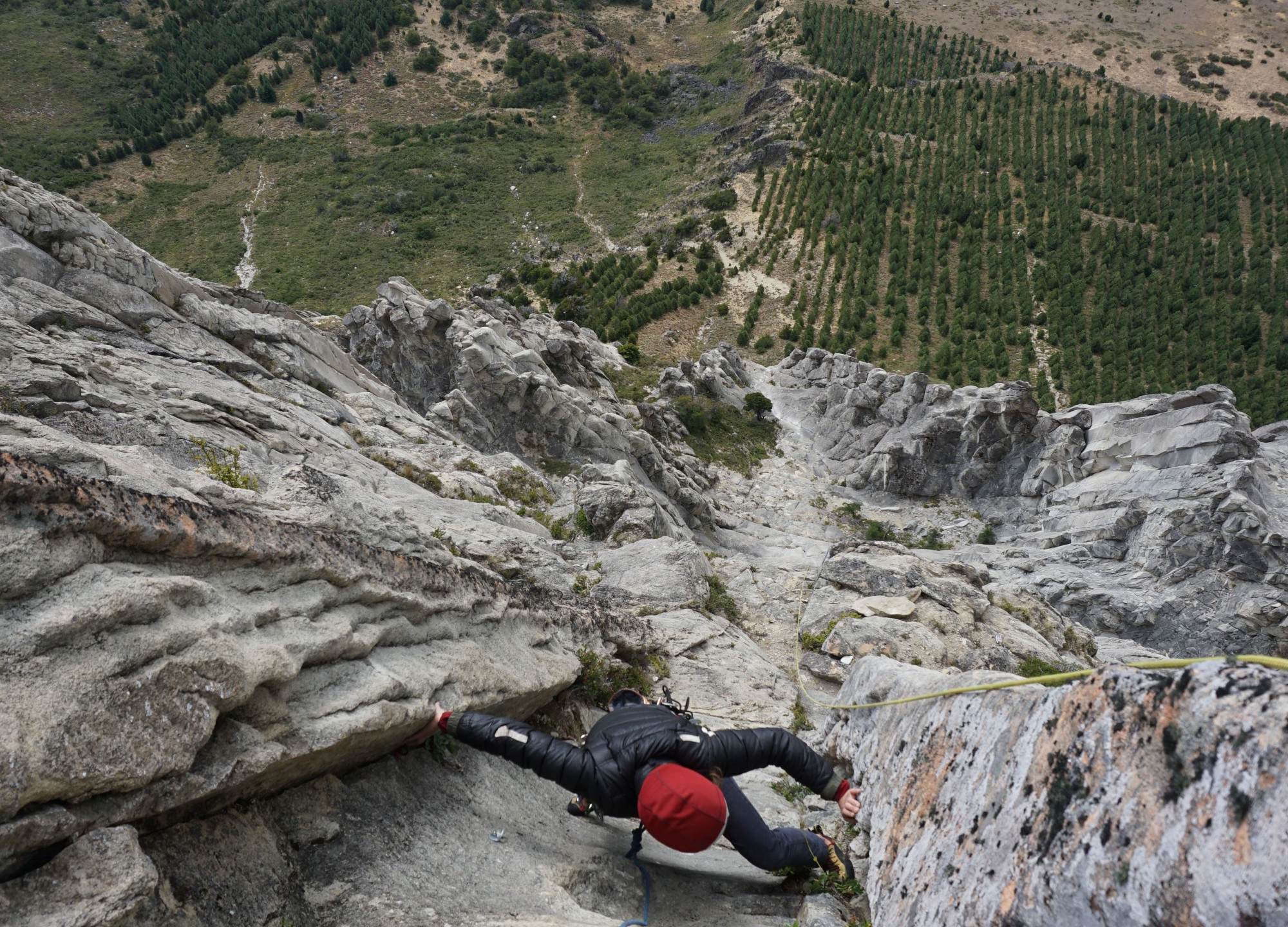 Topping out Cerro McKay via an 8 pitch sport climb