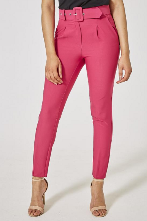 Fuchsia Belted Trousers