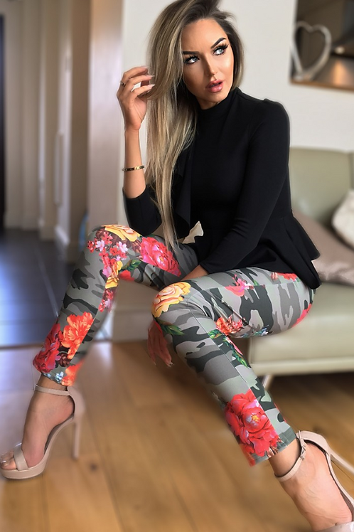 Camo Floral Trousers