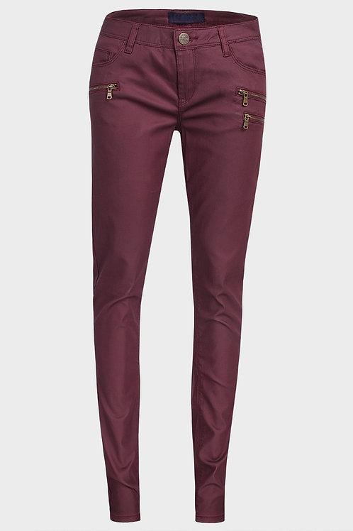 Multi-Zip Waxed Trousers