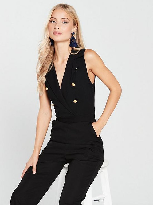 AX Paris Jumpsuit with Military Buttons