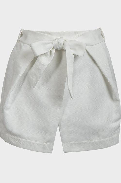 White Belted Skort