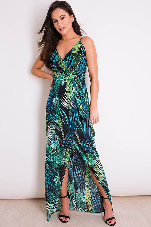 Girl in Mind Tropical Print Maxi Dress