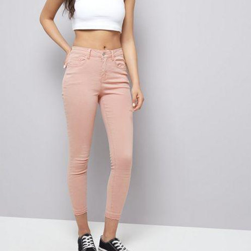 Pink Ankle Grazer Jeans