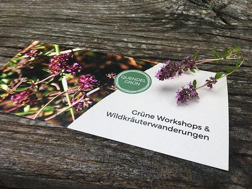 Wertgutgutschein für einen Quendelgrün-Workshop (10 bis 100 €)