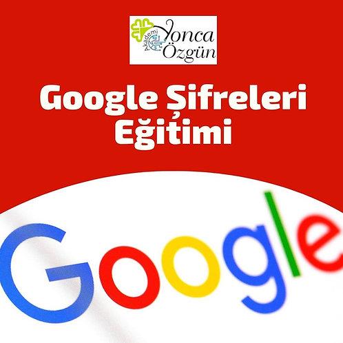 Google Şifreleri Eğitimi
