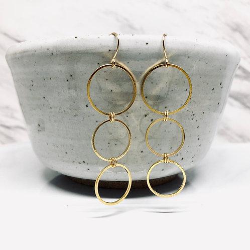 Three Hoop Earrings