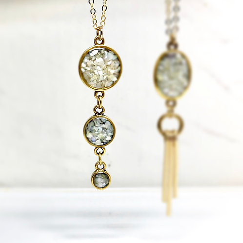 Mother of Pearl Drops Necklace