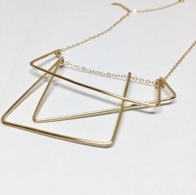 san-francisco city stairs wire necklace.