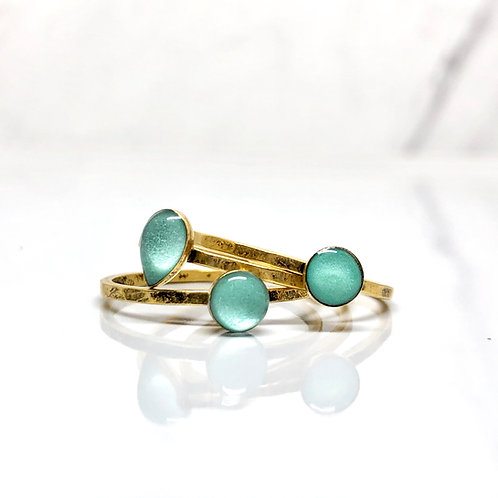 Mint Thin Stacking Ring