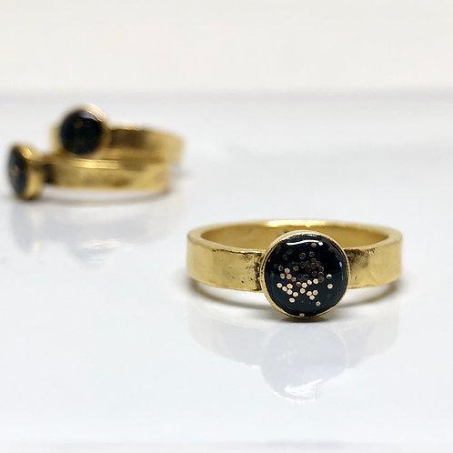 Black sparkles Ring