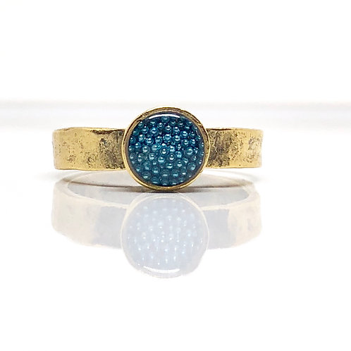 Micro Beads Blue Ring