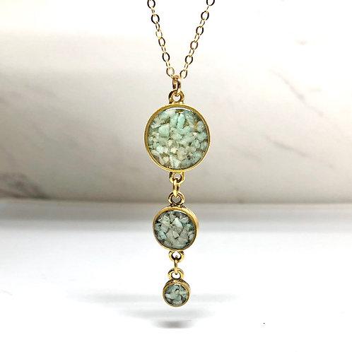 Amazonite Drops Necklace