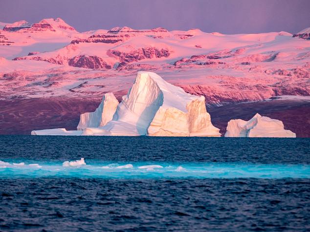 Greenland Morning Alpenglow