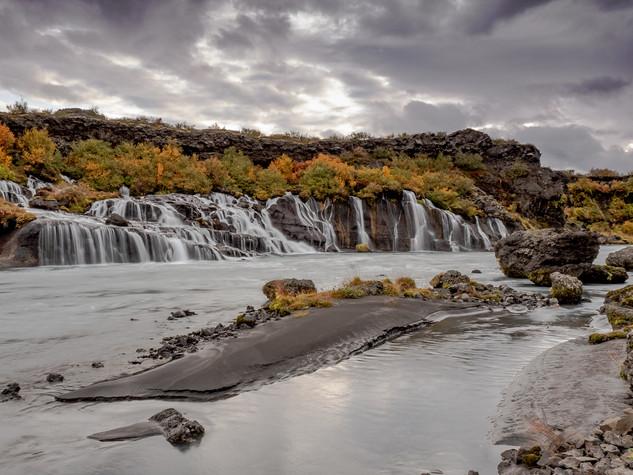 Fraunfossar Waterfalls
