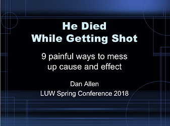 cause and effect writing tutorial: He died while getting shot