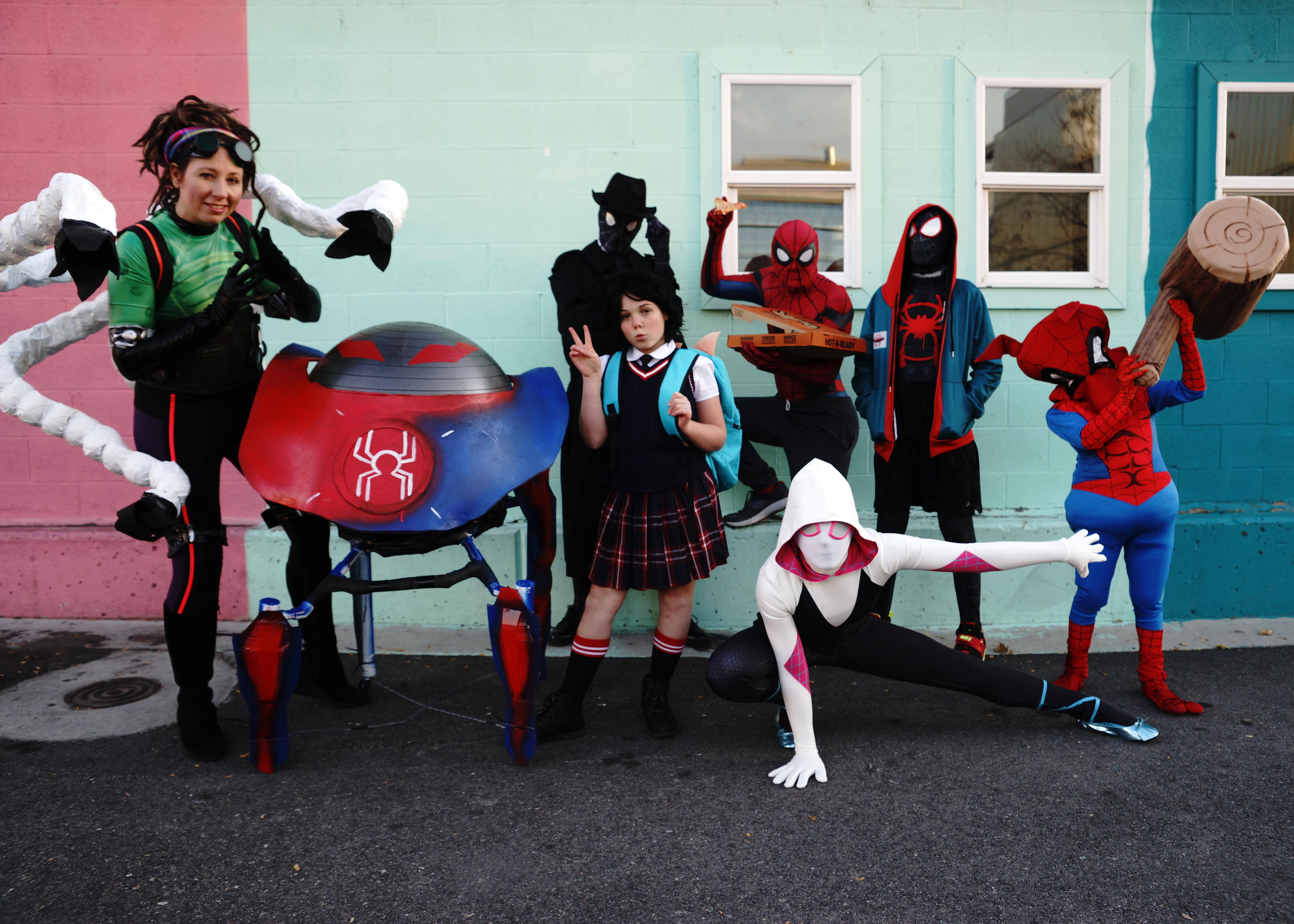 AllenFam Spiderverse 2019 halloween
