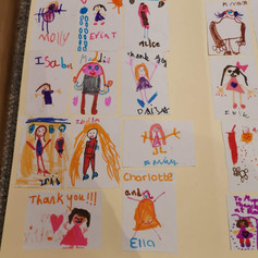 Our thank you card from rainbows