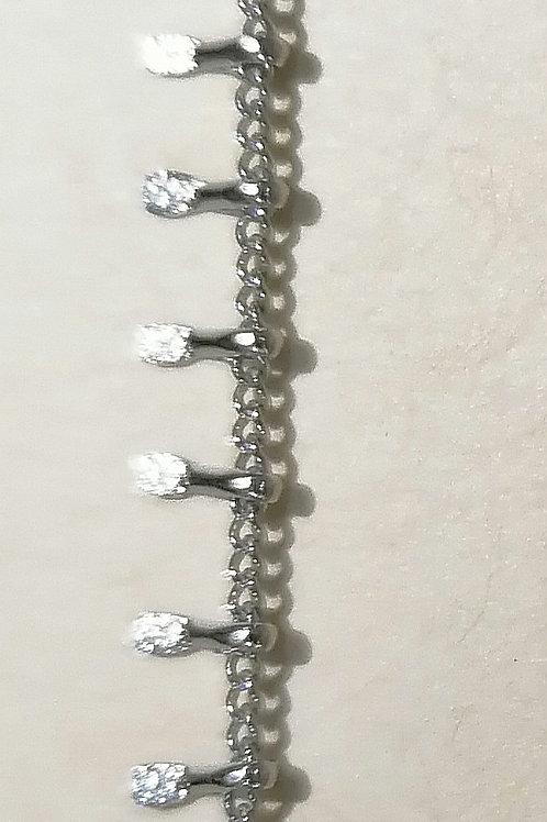 Bracelet acier inoxydable argent