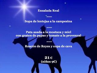 Menu de Reyes, 6 de enero 2016