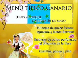 Menu Típico para el Día de Canarias !!!