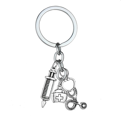 Nurse Charm Key Ring