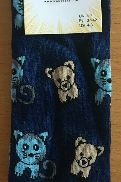 Dogs and Cats Bamboo Socks size 4-7