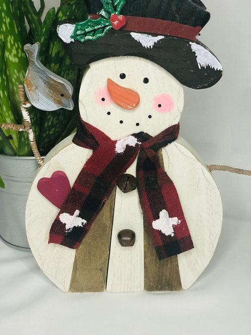 Wooden Christmas snowman