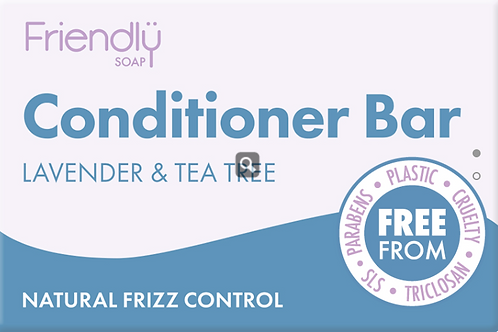 Friendly Soap Conditioner Bar – LAVENDER & TEA TREE