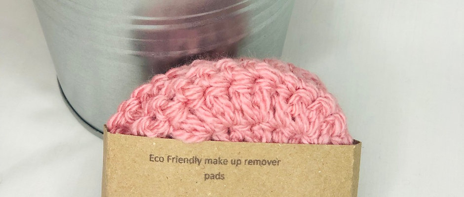 Eco Friendly Make Up Remover Pads Crochet Face Scrubbies, Cotton Wool Alternativ
