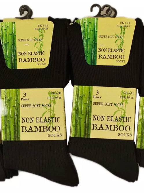 Black bamboo socks size 4-7