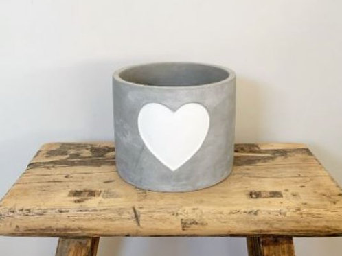 Eco Friendly Grey Cement Pot