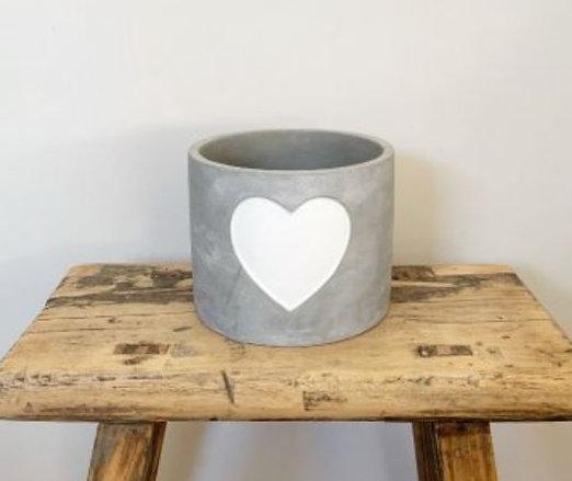 Grey Cement Pot