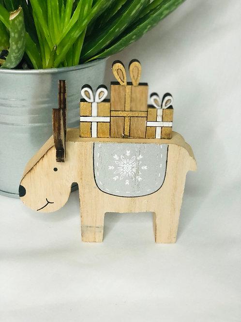 3D Wooden Reindeer