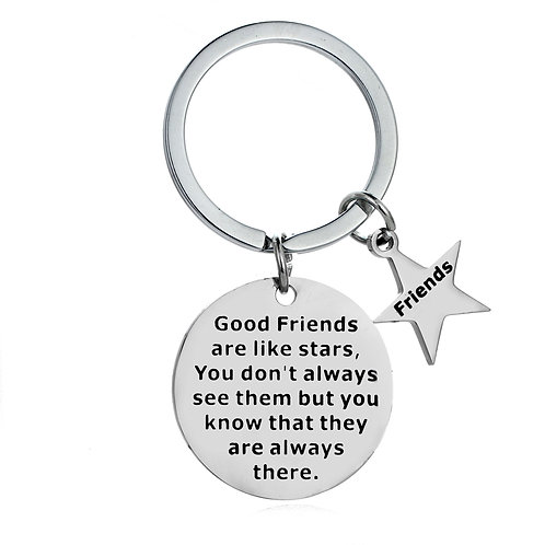 Good Friends Charm Key Ring