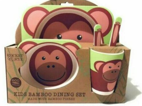 Eco Friendly Bamboo Dinner Set - Monkey Design