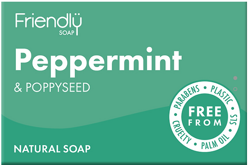 Friendly Soap - PEPPERMINT & POPPY SEEDS