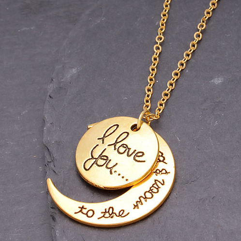 """Love you to the moon and back"" Fashion necklace"