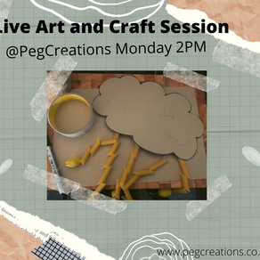 We are Live tomorrow on #Facebook @pegcreations