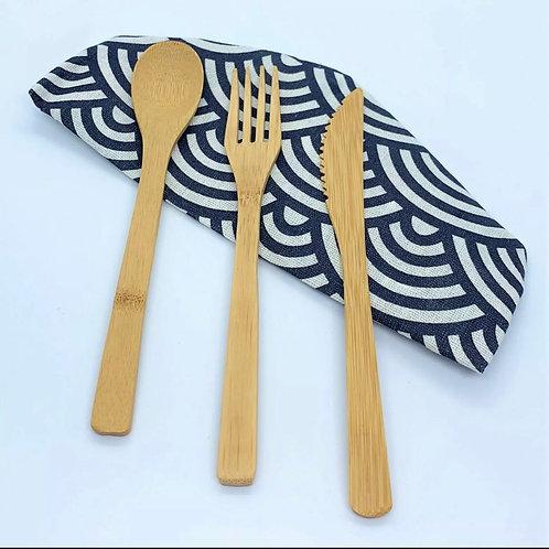 Bamboo Cutlery Dinnerware Set