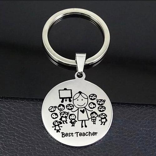 """""""Best teacher"""" Key Ring"""
