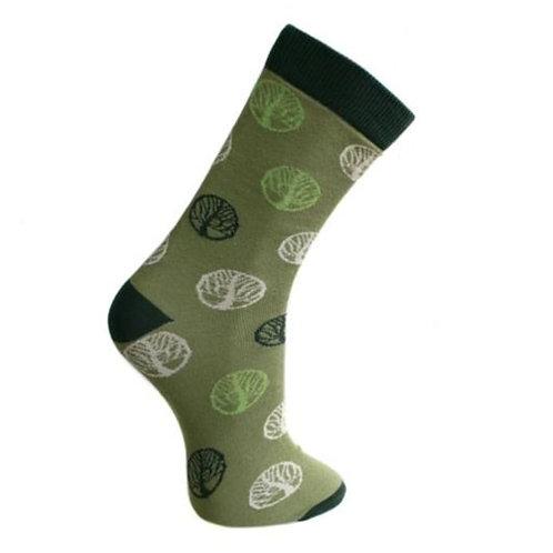 Bamboo Socks, tree of life, shoe size 3-7