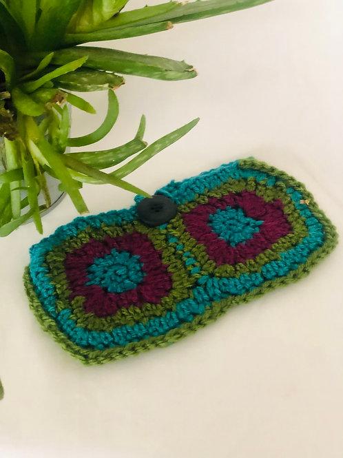 Hand made Crochet make up bag