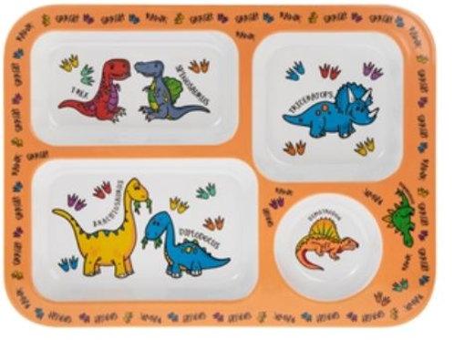 Plastic Reusable Dinosaur Food Tray
