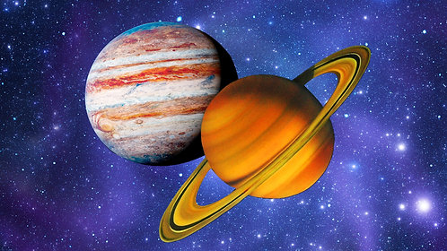 10 Minute Jupiter Saturn Conjunction Sound Bath w/ actual sounds of the Planets